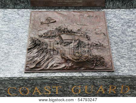 Coast Guard 3D relief art sculpture in San Francisco