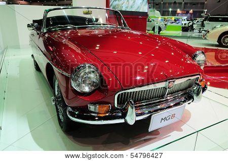 Bkk - Nov 28: Mg B, Classic Designed Car, On Display At Thailand International Motor Expo 2013 On No