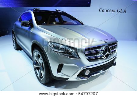 Bkk - Nov 28: Mercedes Benz  Concept Gla, Concept Cross Over Car, On Display At Thailand Internation