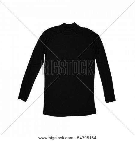 black turtleneck isolated on a white background