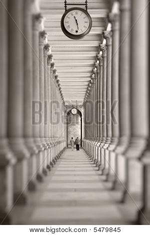 Time is passing... (colonnade in Karlovy Vary Czech Republic)