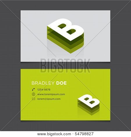 Business card letter b