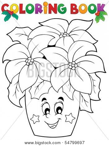 Coloring book Christmas thematics 3 - eps10 vector illustration.