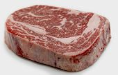 stock photo of ribeye steak  - Ribeye steak from Australian Wagyu cattle - JPG
