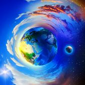 picture of hemisphere  - Image of planet Earth planet - JPG