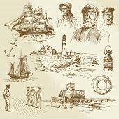picture of brigantine  - nautical elements  - JPG