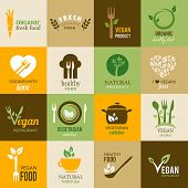 foto of food plant  - Icons representing healthy - JPG