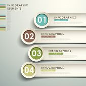 pic of  realistic  - realistic vector abstract 3d paper infographic elements - JPG