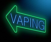 stock photo of e-cig  - Illustration depicting an illuminated neon sign with a vaping concept - JPG