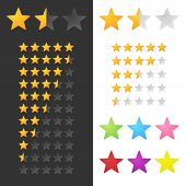 stock photo of tens  - Rating Stars Set For Website Or Application - JPG