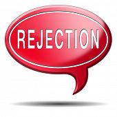 pic of reject  - rejection letter for job vacancy or fear to get your visa rejected or a real good proposal they reject - JPG