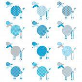 picture of standard poodle  - Blue Grey Poodle pattern - JPG