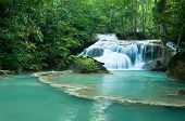 Постер, плакат: Waterfall at Erawan forest