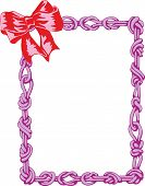 Frame with bow