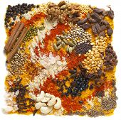 stock photo of fenugreek  - A huge range of indian spices and other ingredients - JPG