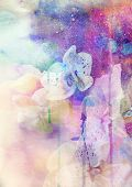 image of lilly  - Abstract floral background - JPG
