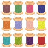 color reels of thread