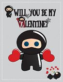 stock photo of ninja  - Valentine - JPG