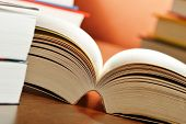 stock photo of glossary  - Composition with books on the table - JPG