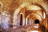 stock photo of greek-island  - Arches of long niche - JPG