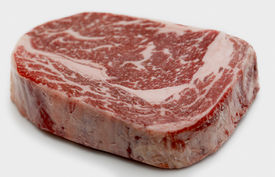 picture of wagyu  - Ribeye steak from Australian Wagyu cattle - JPG