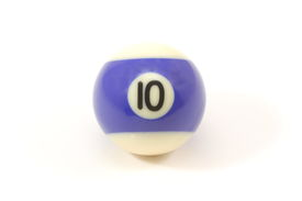 pic of pool ball  - Billiard ball 10 ten isolated on a white background - JPG
