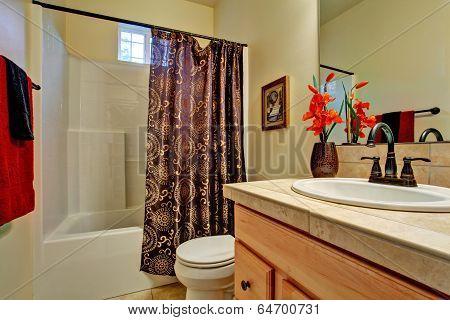 Bathroom Interior.