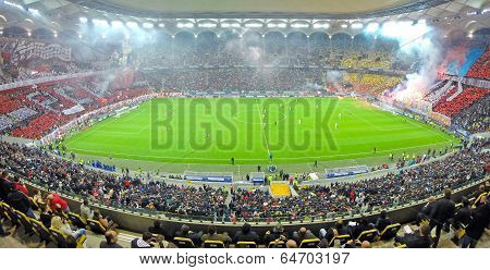 Football Match Between Dinamo And Steaua Bucharest In National Arena Stadium