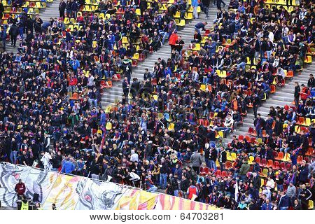 Crowd Of Football Supporters In A Stadium
