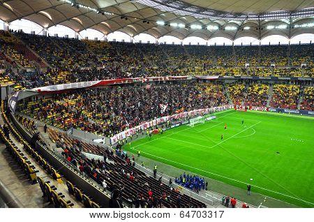 Ultras Of Dinamo Bucharest Soccer Club During A Match Against Steaua Bucharest