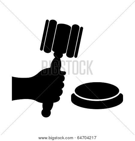 Auction vector symbol