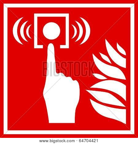 Fire alarm vector sign