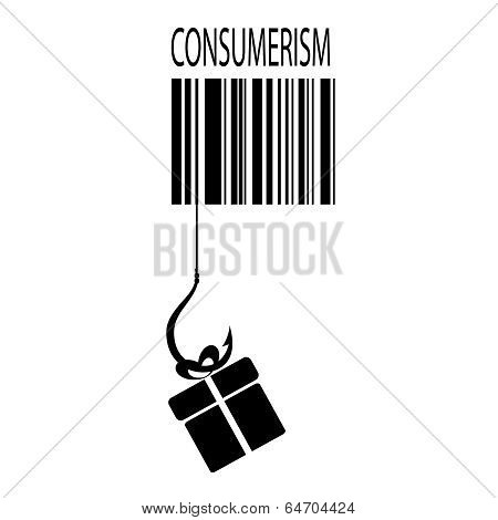 Consumerism vector sign