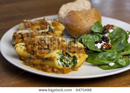 Stuffed Shells And Salad
