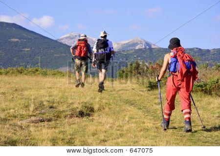 Menschen Wandern in den Bergen in Mazedonien