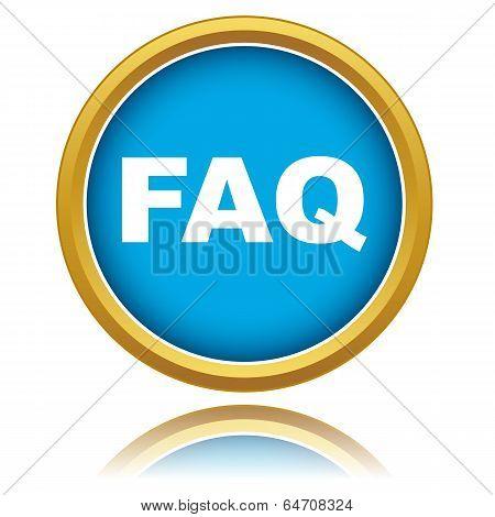 Blue Faq Vector Icon