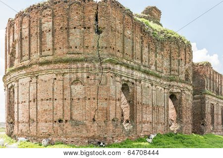 Old Ruins Of Chiajna Monastery In Romania