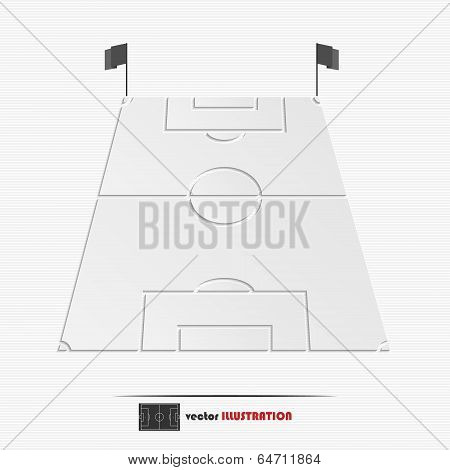 Abstract Football Field Web Icon