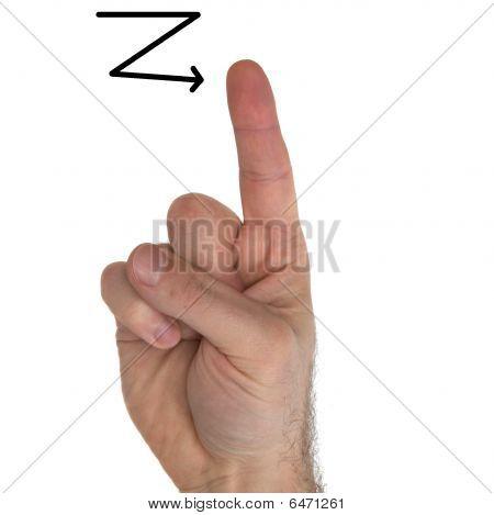 Asl Letter Z