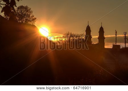 sunrice in transcarpathian city uzhhorod