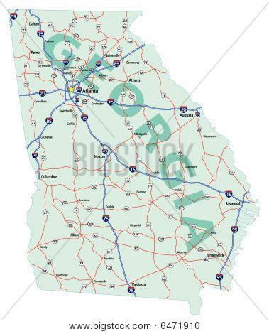 Georgia State Interstate Map