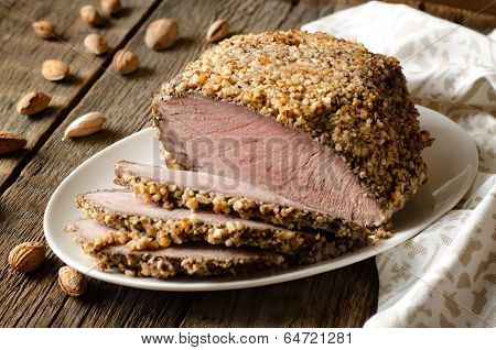 Pork Baked In Almond Crumb