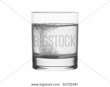 Glass Of Water With Effervescen Tablet