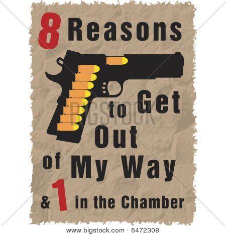 Handgun full of bullets