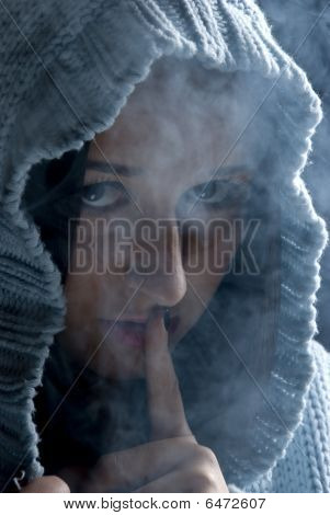 Hush!hudden Woman In Smoke