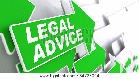 Legal Advice on Green Direction Arrow Sign.