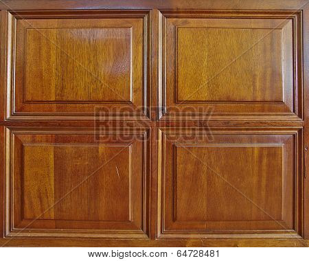 solid wood wainscoat frame closeup