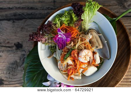 Seafood Papaya Salad