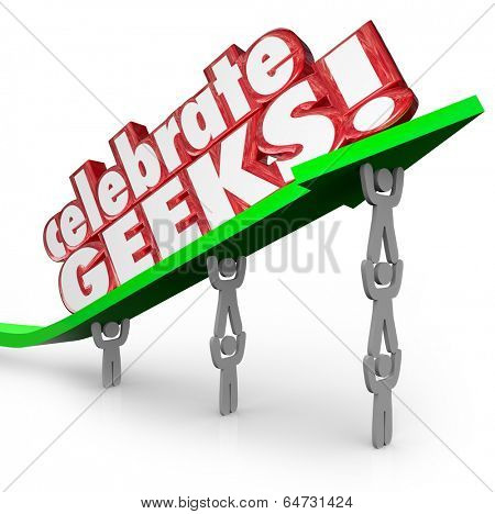 Celebrate Geeks Words Arrows Nerd Power