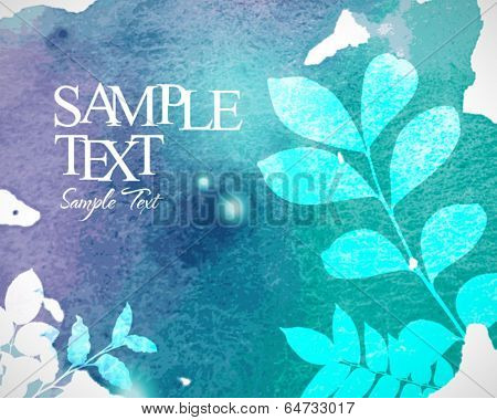 Abstract stylish watercolor background 08